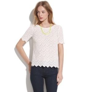 Madewell Broadway and Broome white lace top